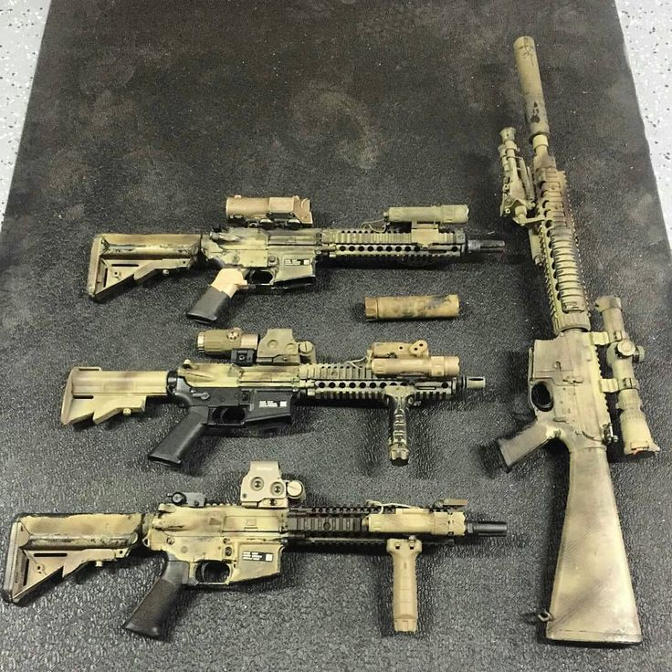 A few SBRs and one long barrel AR.