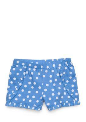 J. Khaki Girls' Polka Dot Shorts Toddler Girls - Blue Sail - 4T