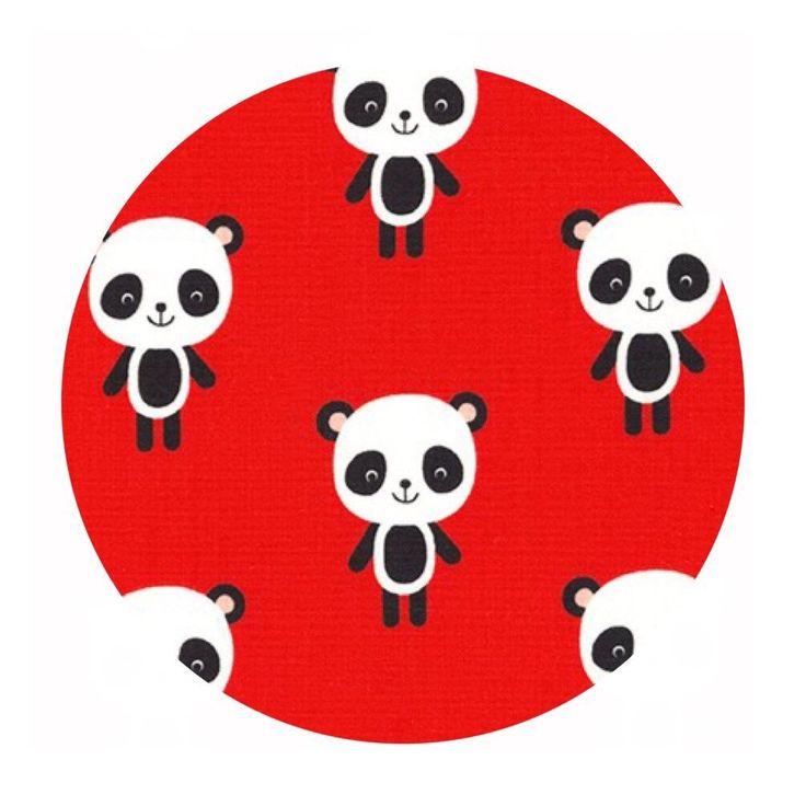 Pandas in Red - Urban Zoologie Collection- Robert Kaufman Fabrics