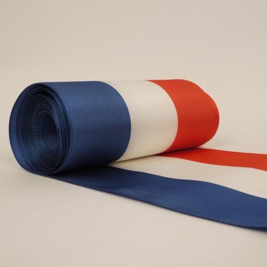 Ruban tricolore bleu blanc rouge 25mm, 27mm, 36mm, 68mm