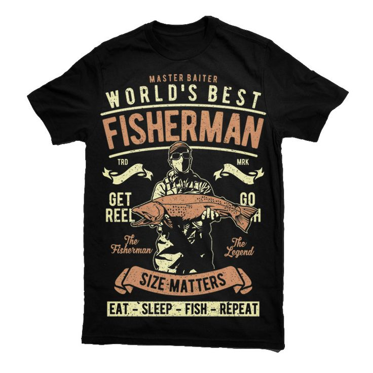 Worlds Best Fisherman T-shirt clip art