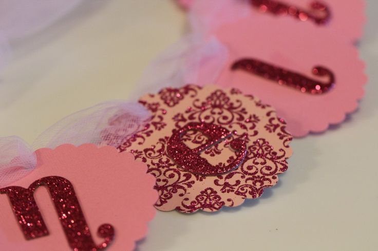 Bachelorette banner with glitter letters.