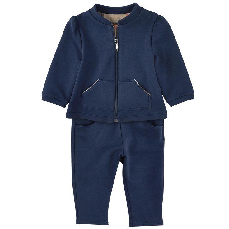 Burberry Sweat zippé à capuche et pantalon de jogging Bleu - 103255 | Melijoe.com