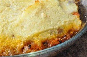 Lækker Shephards pie med hakket oksekød