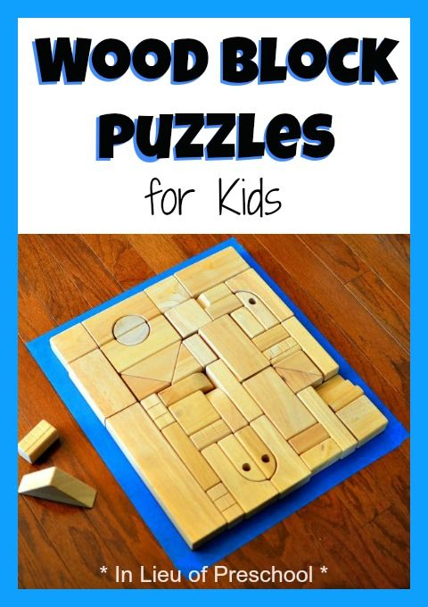 DIY wood block puzzles for kids