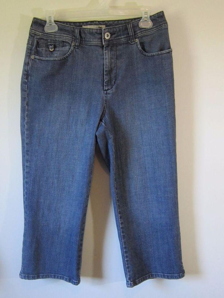 Chicos Platinum Denim Capri Jeans Womens Chicos Size 1 (29x20) #Chicos #Capri