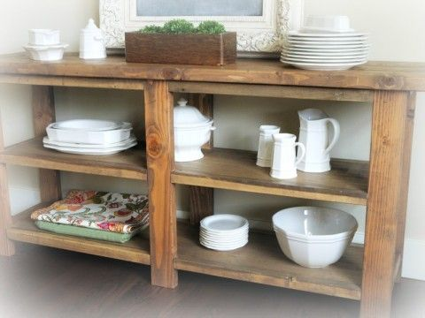 Rustic Buffet Table