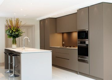 Open Plan Handleless Kitchen contemporary-kitchen