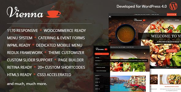 Vienna Responsive WordPress Restaurant Theme