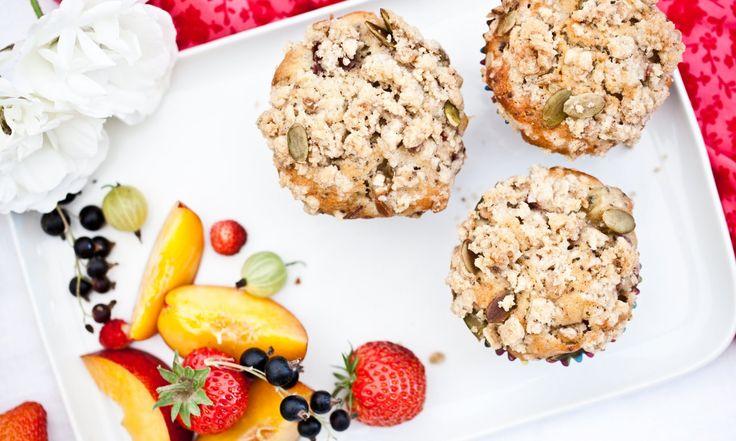Muffiny s rebarborou a vločkovou posypkou | KITCHENETTE