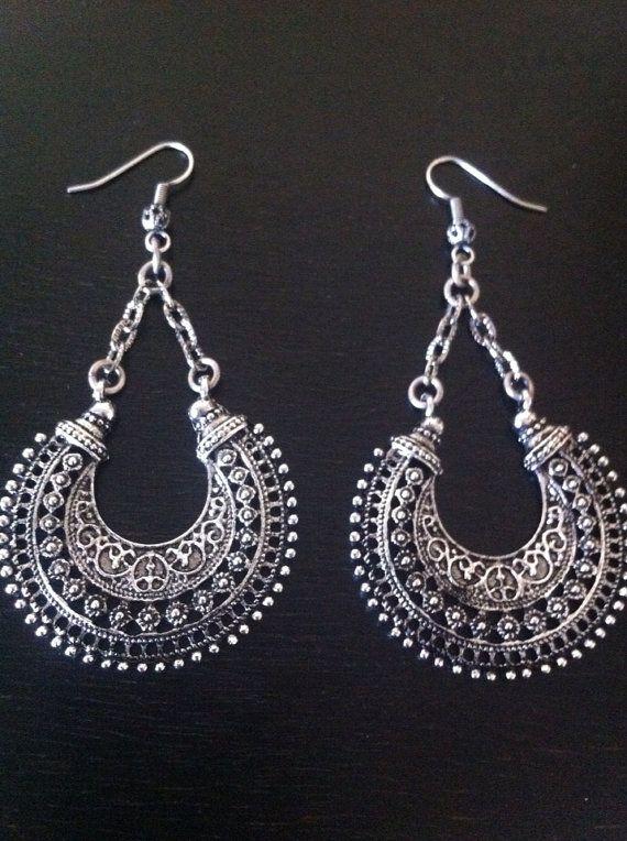 Belly dance Tribal Earrings Gypsy BOHO Jewelry by RedGypsyJewelry, $25.00