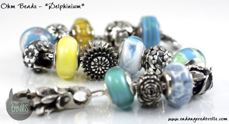 Ohm Beads Limited Edition Delphinium (Spring Flowers 2013)