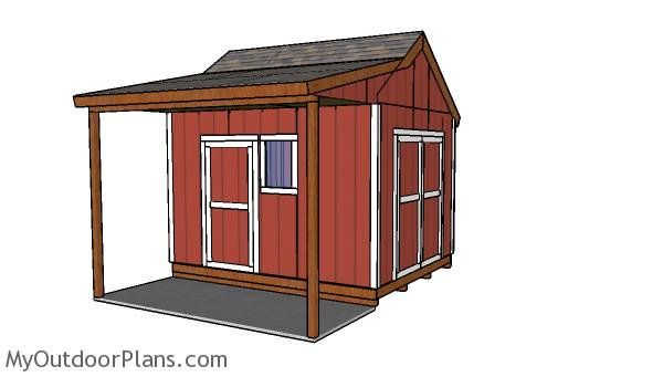 10x12 shed with porch plans