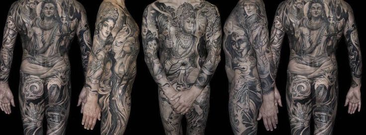full body suit tattoo isnard barbosa