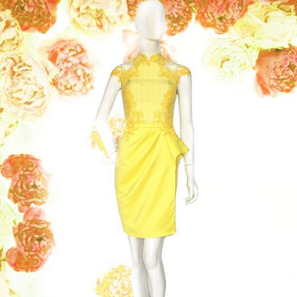 Wendy Qibao in Soleil Yellow. For Pricing and Sizing please Line us at Namayinda or WA us at 08111047891.