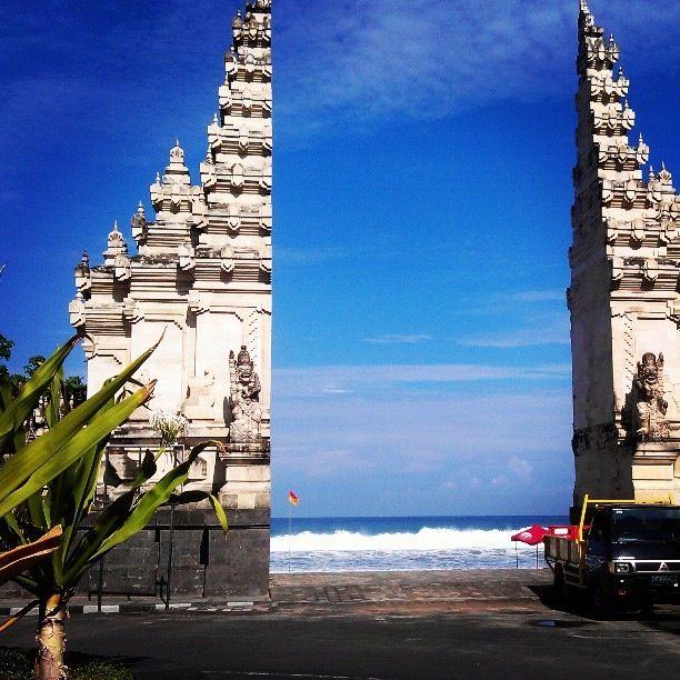 Legian Beach Guardians on the beautiful island of Bali, Indonesia. Backpack Asia 2013-April.