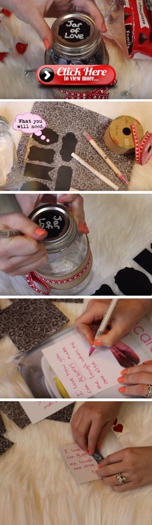 Jar of Love | Easy DIY Anniversary Gift Ideas for Him
