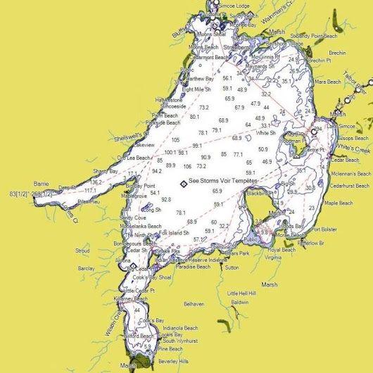 Are you planning on fishing lake Simcoe this hard water season print this map...