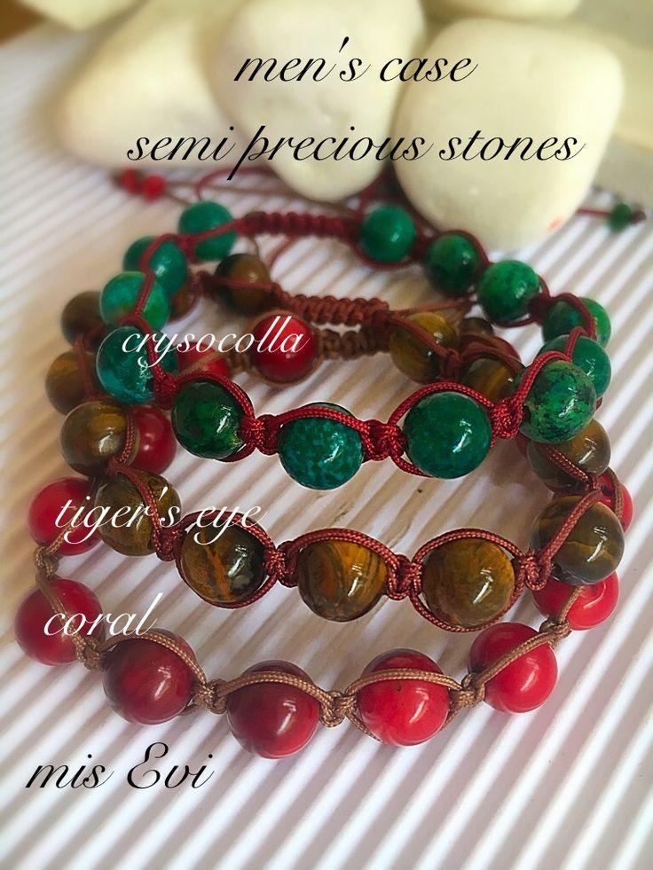 Men's case!!!! Semi precious stones!!!!! Handmade bracelets for men!!!!