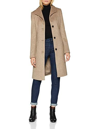 ESPRIT Collection 088eo1g032 Manteau Femme Beige (Light Taupe 5 264) Small e03999baa7