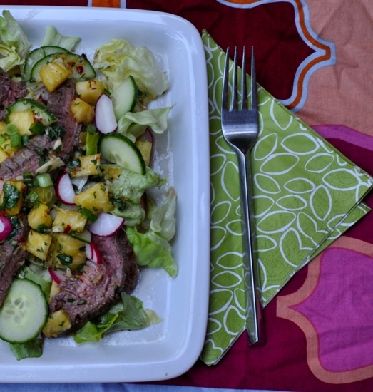 Grilled Steak With a Pineapple Punch I know Pineapple is one of the ...