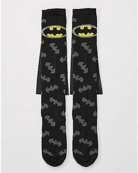7752a4c22 Caped Logo Batman Knee High Socks - DC Comics - Spencer s