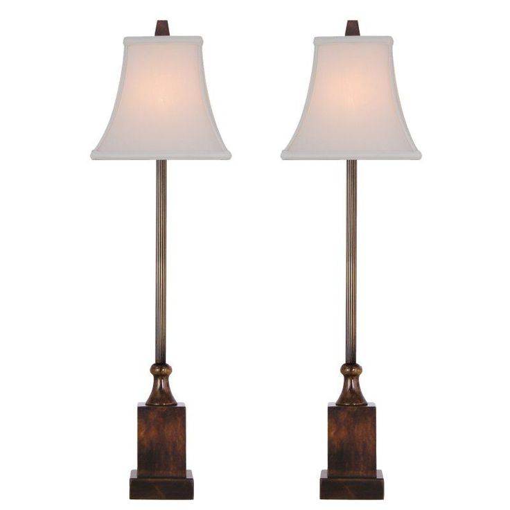 East enterprises lbj6z21 buffet lamp set of 2 lbj6z21s