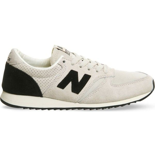 NEW BALANCE 996 suede trainers (1,740 MXN) ? liked on Polyvore featuring  shoes, sneakers, grey black, new balance trainers, suede shoes, new balanc\u2026