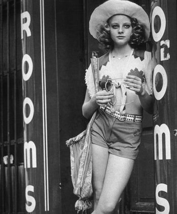 Taxi Driver, 1976. A very young Jodie Foster: 14 years old.