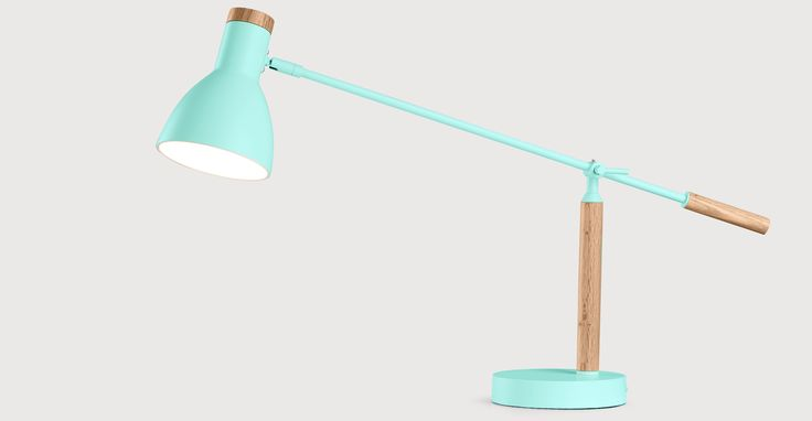 Cohen, lampe de table, vert et chêne