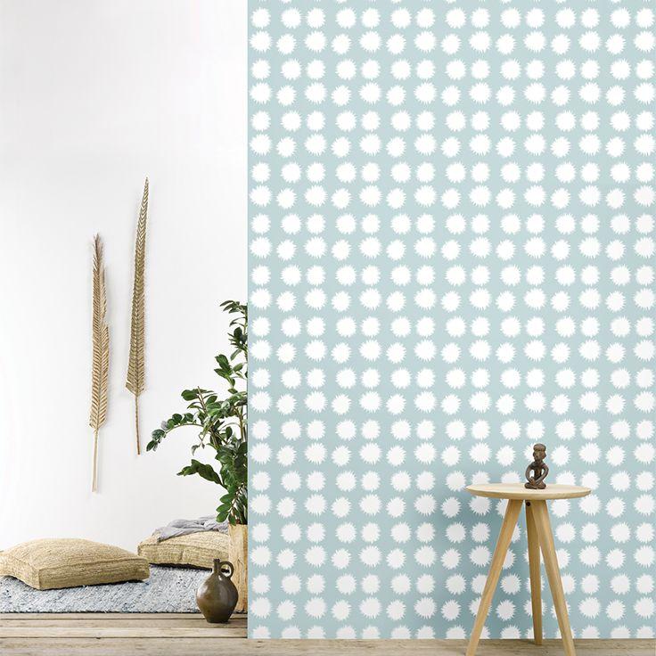 ... fluff softblue behangpapier woonkamer slaapkamer interieur design