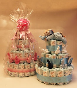 Mum's nappy cakes and other christening gifts now available on ebay! Super proud of her