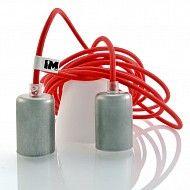 Lampa industrial kable w oplotach Double Red dostępne tylko w imindesign! Zobacz: http://www.sklep.imindesign.pl/category/lampy-imin-classic-z-oprawka-industrial #imindesign #oświetlenie #dekoracyjne #kable