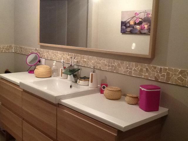 17 best images about salle de bain on pinterest machine a bathroom cabinets and wood bathroom - Douche italienne pierre naturelle ...