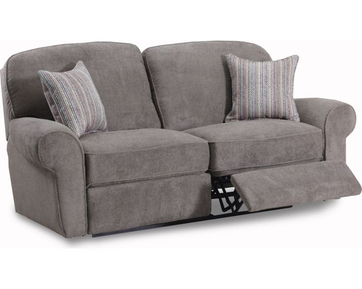 The Megan Double Reclining Sofa's design exemplifies the latest fashions for today's home, featuring great fabrics and colors.