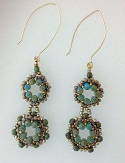 rulla-earrings: Beading Patterns, Rulla Earrings, Regal Rulla, Jewelry Earrings Beadwork, Beading Earrings, Beaded Earrings, Beading Tutorials, Bead Jewelry