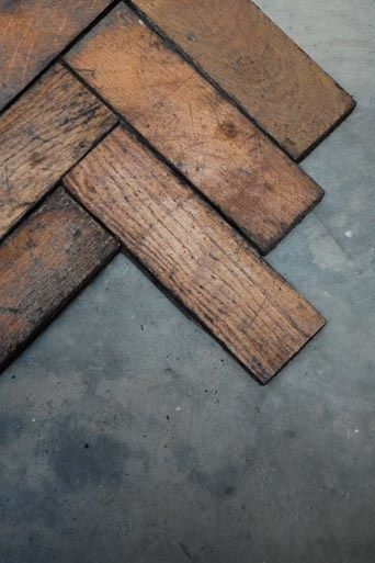 Reclaimed Oak Parquet Flooring; £22 per square meter from Retrouvius.