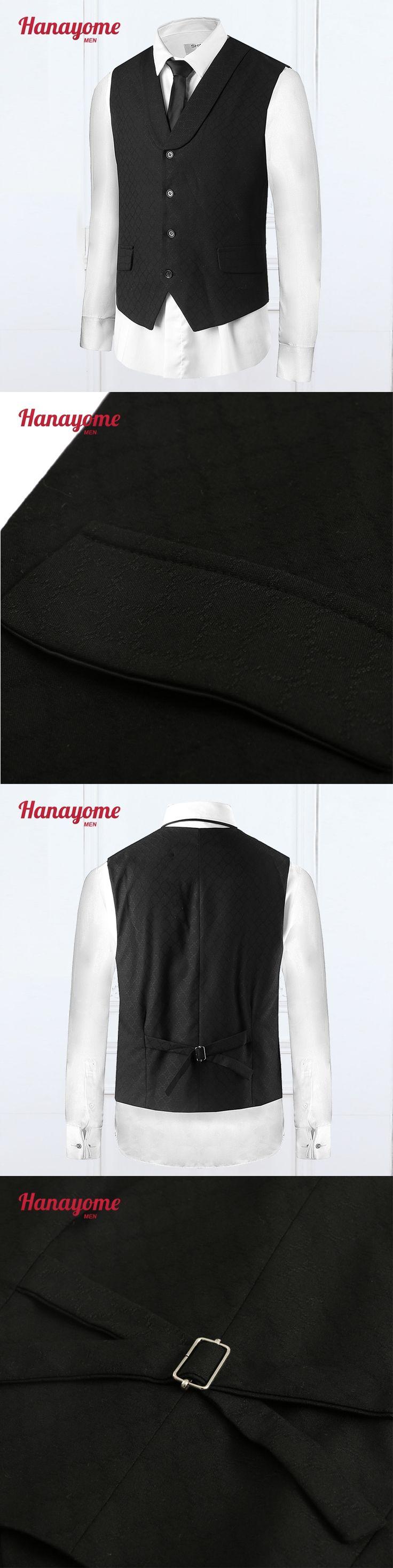 Trajes Para Hombre Men's Formal Suit Coat Pants For Man Tuxedo For Men Black Vests Tuxedo Mens Mandarin Suits Slim Fit 2016 VS34