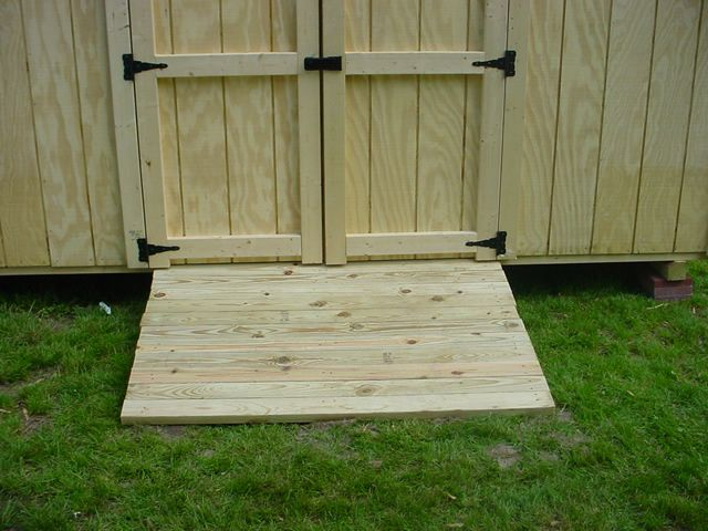 how to make a concrete ramp for shed