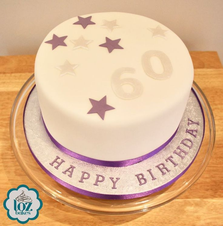 """7"""" triple layer vanilla sponge & buttercream   'Everyone has been so happy with your cake, it's delicious. You are a great baker.'  #stars #60thbirthdaycake #iamlozbakes"""