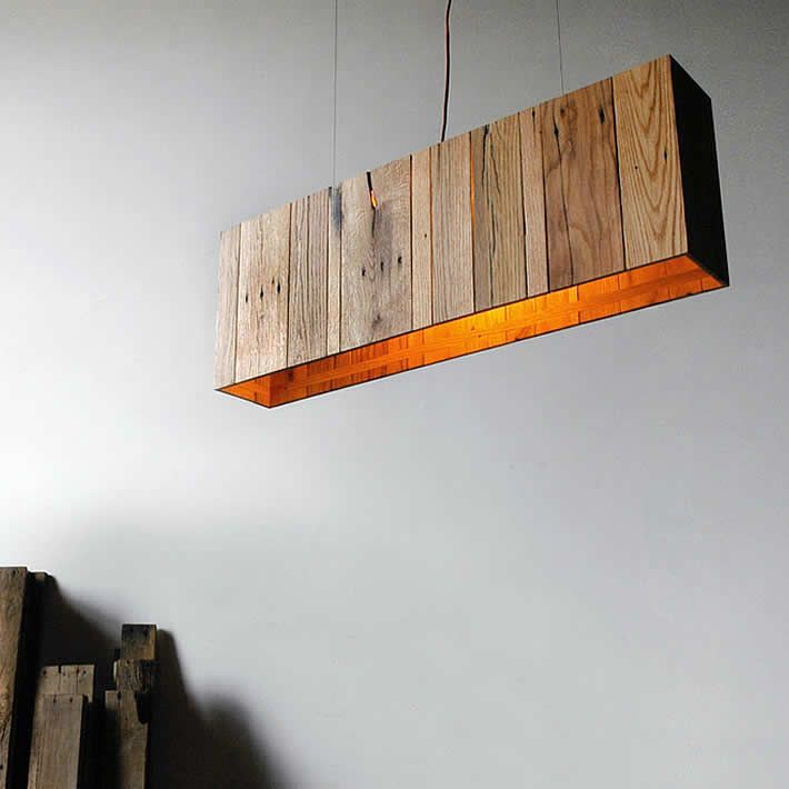 KILTER: pallet wood pendant by propellor | Please subscribe to my weekly newsletter at upcycledzine.com ! #upcycle