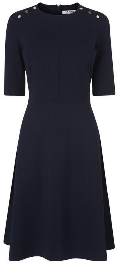 LK Bennett Casey Navy Dress