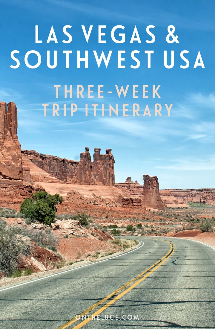 A three-week road trip itinerary from Las Vegas, looping through the southwest USA, through seven national parks, five states and 2000 miles.
