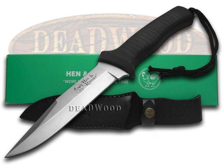 HEN & ROOSTER Non-Slip Black Rubber Fixed Blade Hunter Stainless Knife - HR5010   5010 - 26615201168