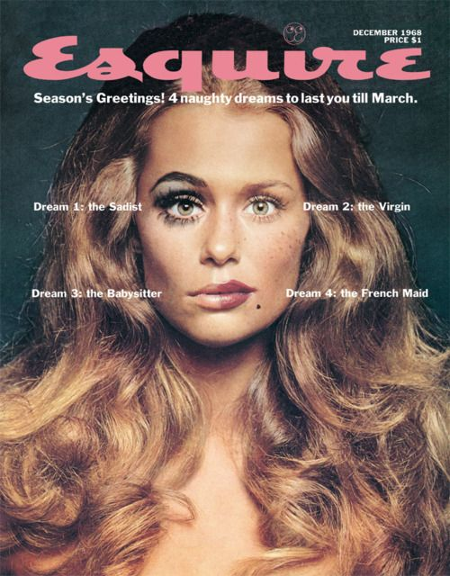 Lauren Hutton on the cover of Esquire, December 1968