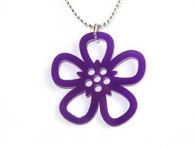 Riipus Flos violetti, akryyliä