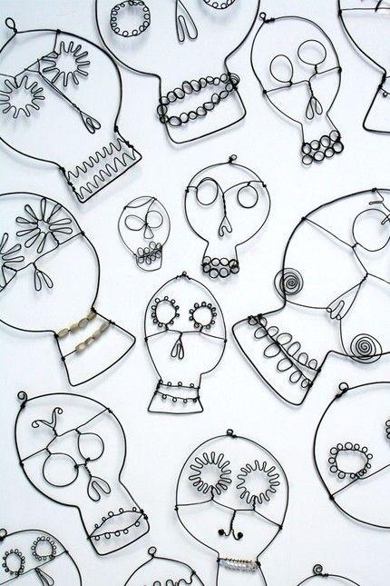 Find, Make, Do  Love the wire sugar skulls!