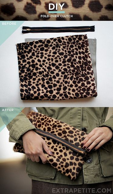 leopardclutch_tutorial by PetiteAsianGirl, via Flickr