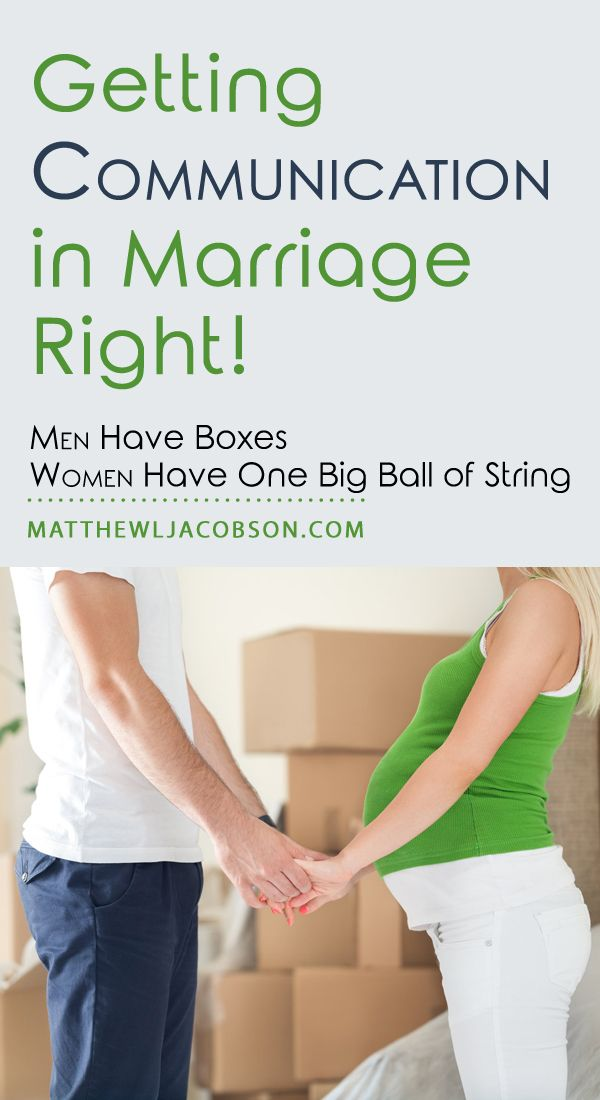 Communication in marriage . . . simple, right! Okay, not so much but, it is a lot better if you understand that Men Have Boxes and Women Have One Big Ball of String!  - Subscribe to Life's learning's blog: http://lifeslearning.org/ Facebook page for Counselors: Facebook.com/LifesLearningForCounselors Twitter: @sapelskog