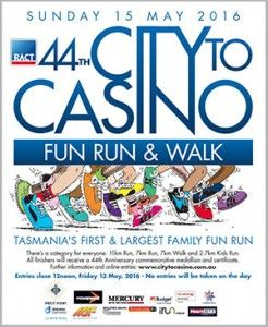 2016 Hobart City to Casino Fun Run - Sunday 15 May 2016